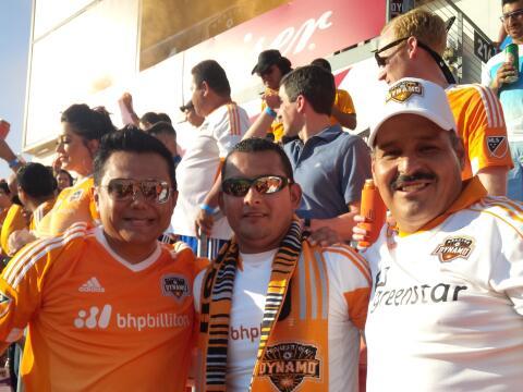 Raul Brindis en el partido de Houston Dynamo VS LA Galaxy