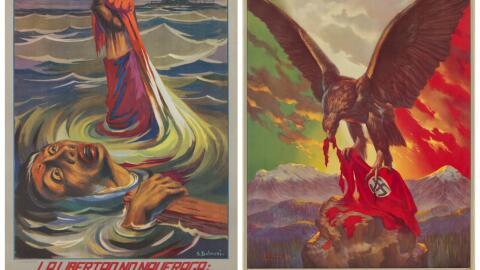 Estos carteles, creados en los Talleres de Gráfica Popular, forman parte...