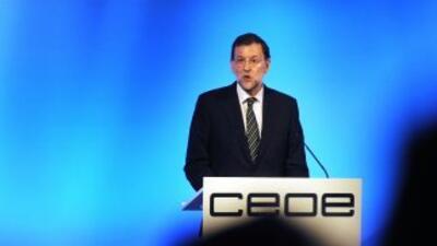 El presidente Mariano Rajoy hizo su anuncio en la clausura de la Asamble...