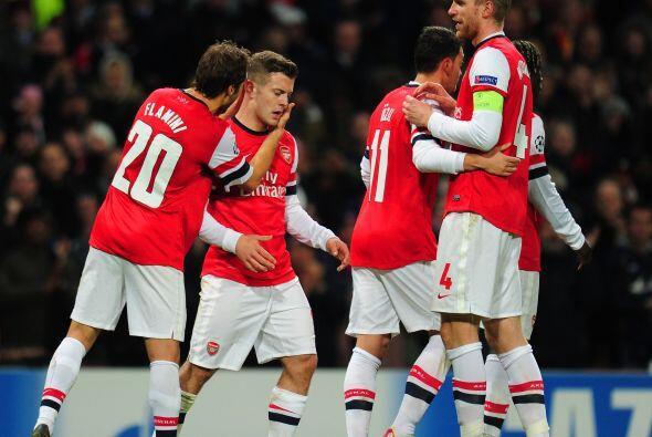 2-0 final con el que el Arsenal lidera el grupo F.