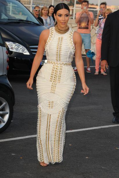 En el evento, Kim fue entrevistada por diferentes medios de comunicación...