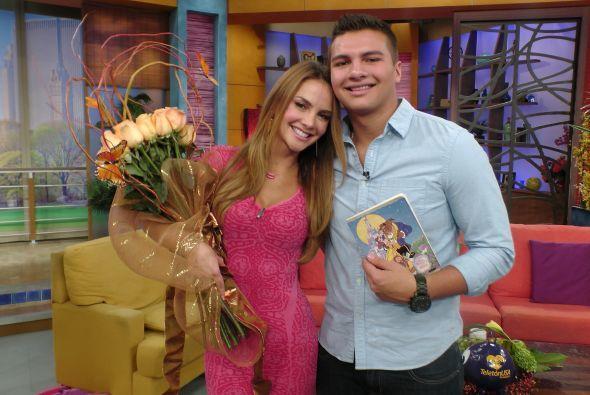 Ximena Córdoba con su hijo Sam
