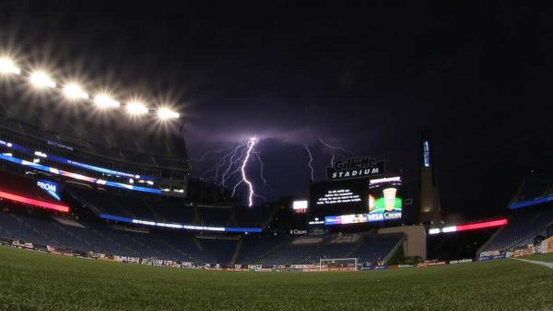 Así estaba el panorama en el área de Boston en la noche del sábado.