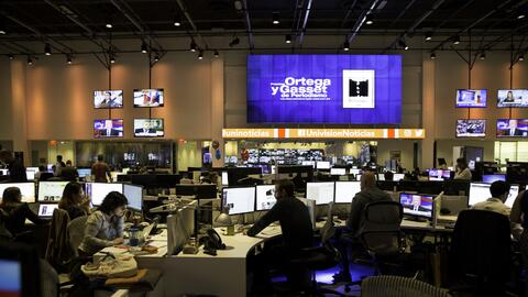 La redacción de Univision, donde se gestó el premio Ortega y Gasset.