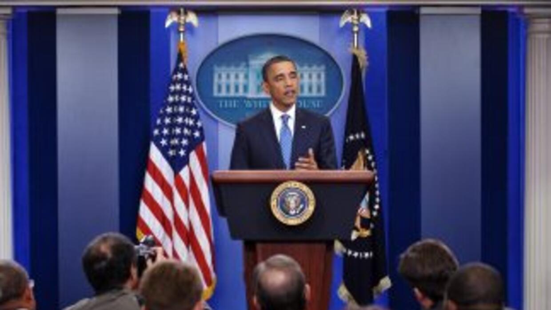 El presidente Barack Obama, en conferencia de prensa.