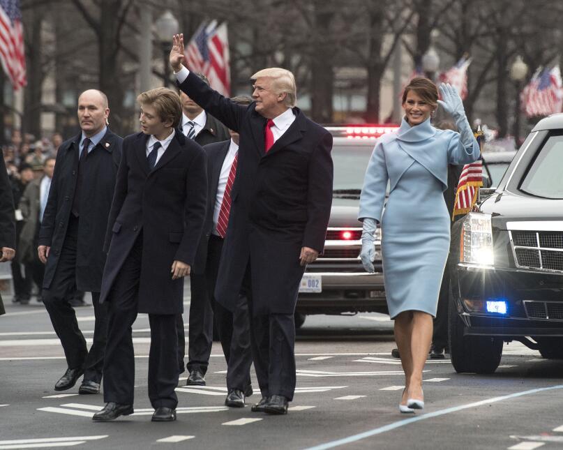 Barron Trump en la inauguración