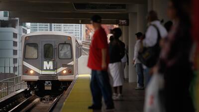 Una estación del Metrorail de Miami, en Florida.