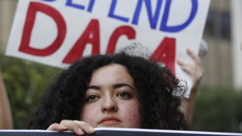 Una protesta en favor de DACA.