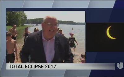 Tendencias en la red: meteorólogo se conmueve con el eclipse solar