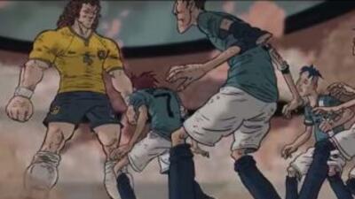 Durante el anuncio, David Luiz se imagina a sí mismo en un partido como...