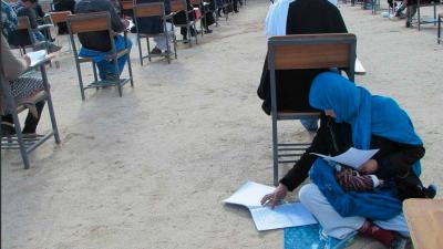 Jann Taab es una joven de afgana que se ha vuelto viral tras esta foto e...