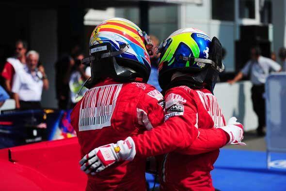 Massa entró segundo para darle a la Ferrari su primer doblete d ela temp...
