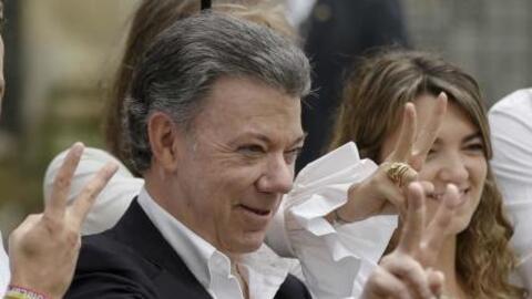Colombian president Juan Manuel Santos was awarded the Nobel peace prize...