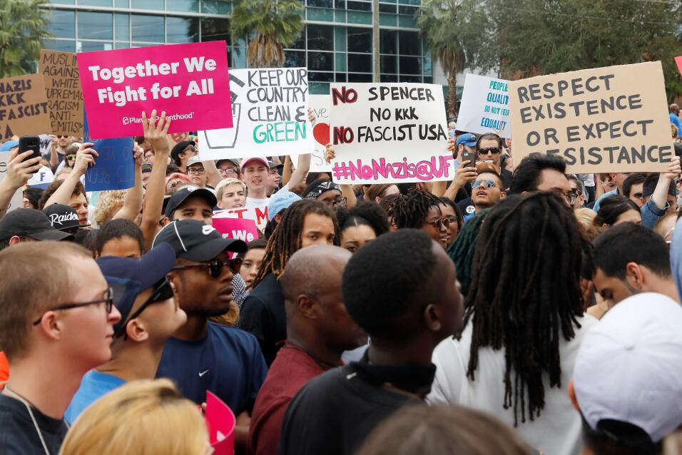 Richard Spencer en la universidad de Florida