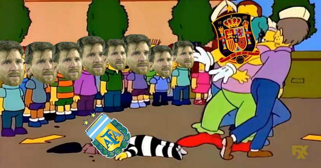 No solo fue España, los memes también le dieron una goliza a Argentina d...