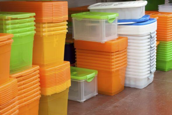 ¿Dónde guardo? Contenedores de plástico transparentes o valijas que no u...