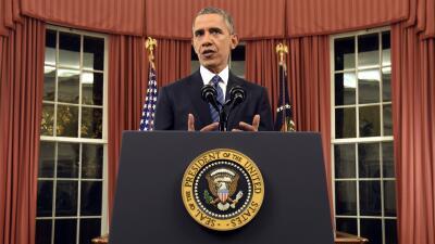 Presidente Barack Obama habla desde la oficina Oval