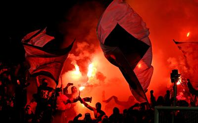La hinchada de Toronto FC celebrando la Copa MLS 2017