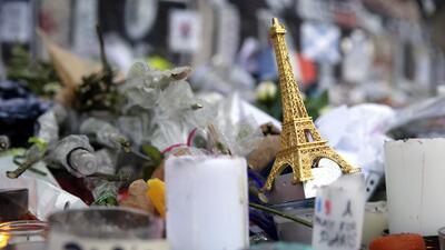 Memorial a las víctimas de los ataques en París.