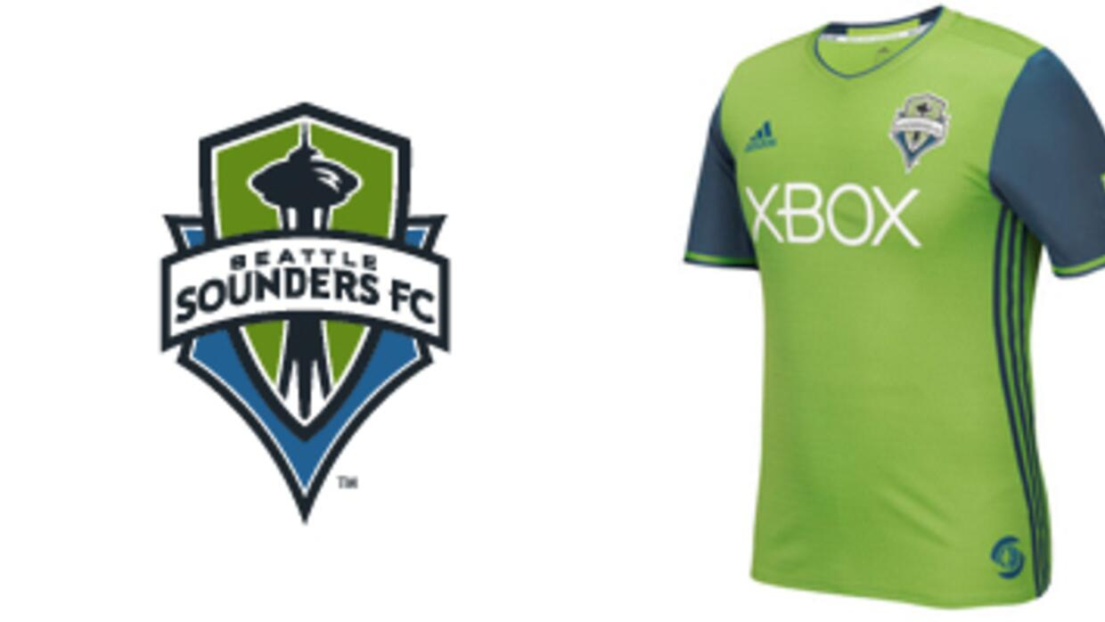 Banner de Seattle Sounders con camiseta