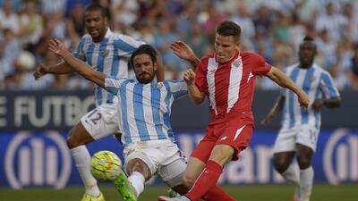 Málaga no pudo romper el cero ante el complicado Sevilla.