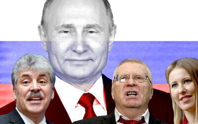 Putin, la figura dominante de la política rusa, no tiene rivales...
