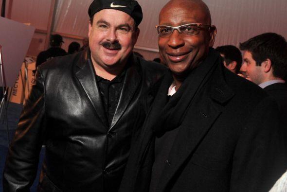 Un grande de la NFL, el ex corredor Erick Dickerson, aquí con John Conklin.