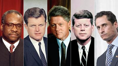 Algunos casos de acosos: magistrado Clarence Thomas, senador Ted Kennedy...