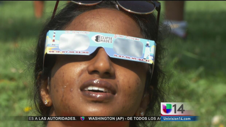 Así se vivió la euforia por el eclipse solar en el Área de la Bahía