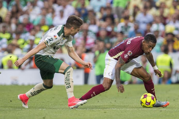 Santos se lleva una infartante victoria ante el América Jorge Flores Vil...