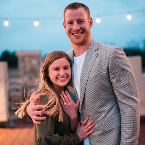 Carson Wentz y su novia Madison Oberg