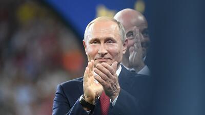 En fotos: los rostros de Vladímir Putin durante la final del Mundial Rusia 2018