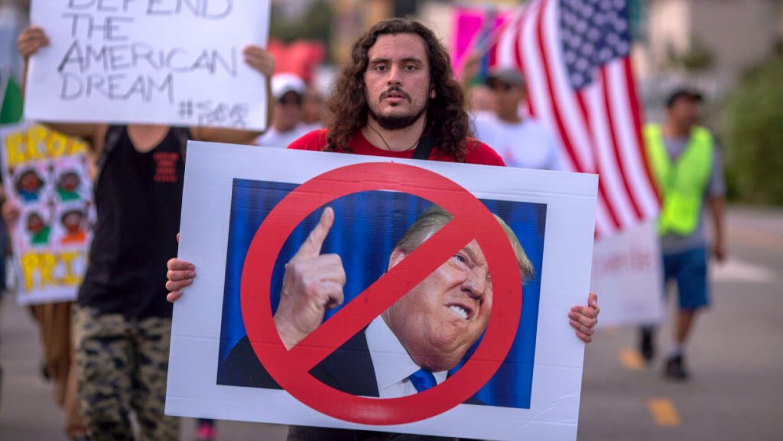 Miles marcharon en septiembre del año pasado en Los Ángeles para apoyar...