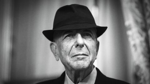 Canadian singer and poet Leonard Cohen is pictured on January 16, 2012 i...