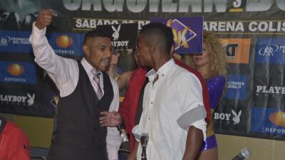 Saguilán y Buelvas se dijeron de todo (Foto: Alma Montiel/WBC).