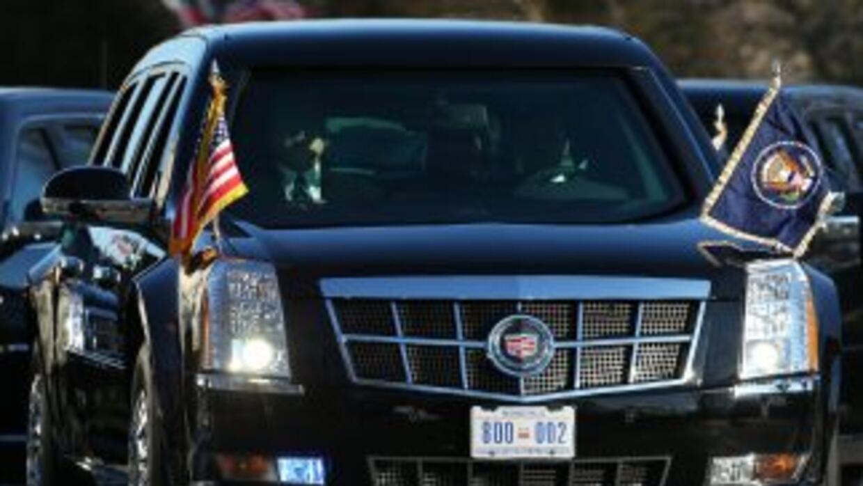 La limusina presidencial Cadillac de Back Obama.