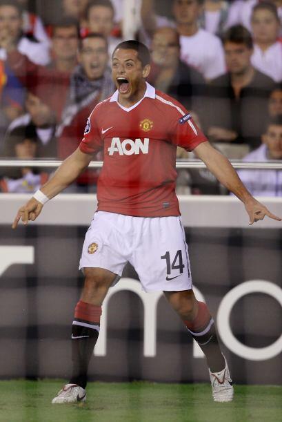Vaya debut goleador del mexicano Javier Hernández en la Champions League.