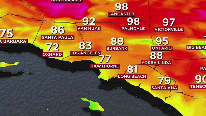 Calor moderado y capa marina para este martes en Los Ángeles