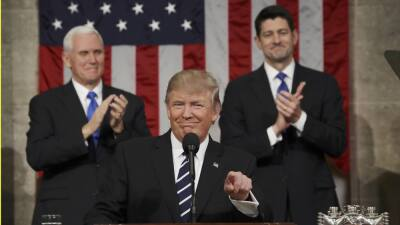Donald Trump addresses Congress February 28, devoting much of his speech...