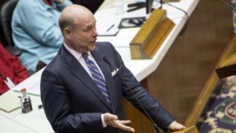 El presidente de la Cámara Baja estatal, el republicano Brian Bosma.