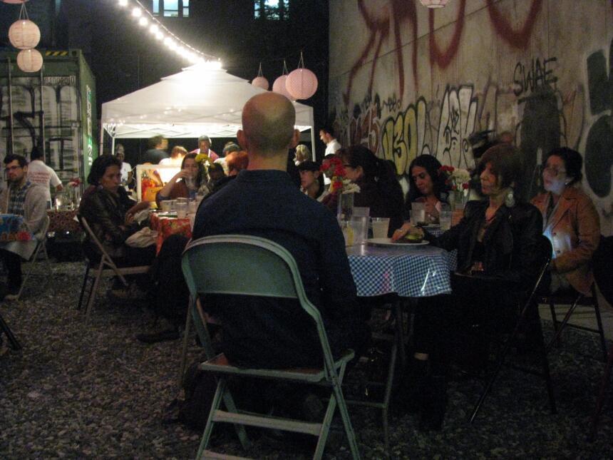 Una cena en Nueva York fue escenario de la discusión sobre el derecho de...