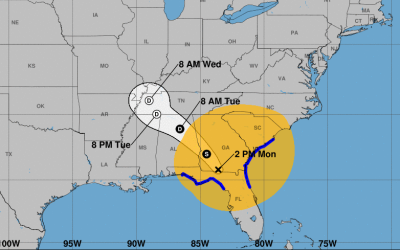Irma bajó a huracán de categoría 1 con vientos m&aa...