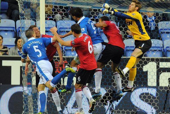 David De Gea y la zaga del United lograban contener cada embate del riva...