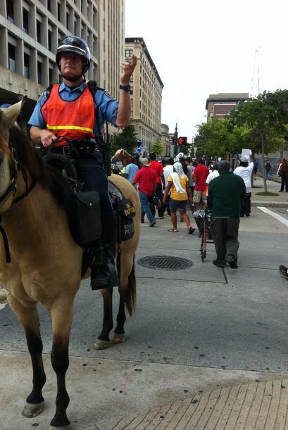 Protestas en Houston por Trayvon Martin