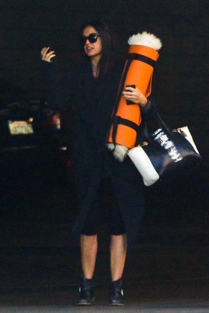 Demi Mooore no falta a sus sesiones, es más, siempre lleva con ella su t...