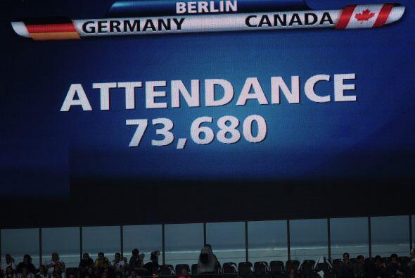 El cartel indicador del estadio olímpico de Berlín indica...