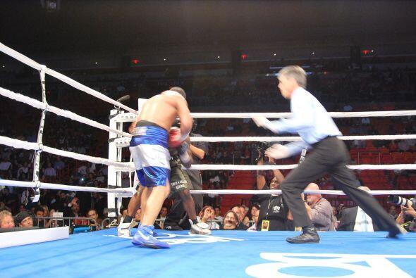 Ricardo Mayorga salió a rematar a Walker y el juez detuvo la pelea cuand...