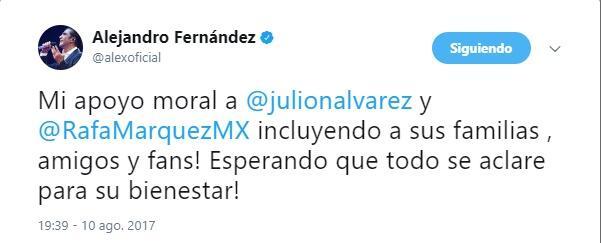 Alejandro Fernández apoya a Julión y Rafa Márquez