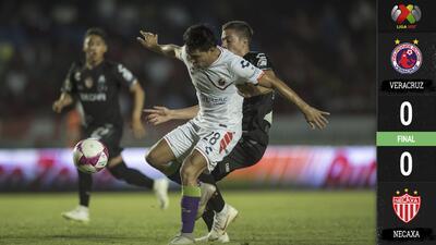 Con los guardametas en plan grande, Veracruz y Necaxa no pudieron brindarnos goles