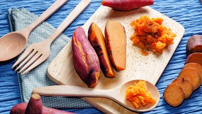 Camote (sweet potato) al horno | Reto 28